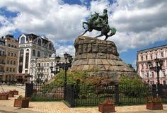 Monumento a Bogdan Khmelnitsky em Kiev, Ucrânia Imagem de Stock