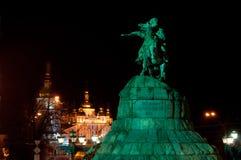Monumento a Bohdan Khmelnitsky en Kiev fotos de archivo
