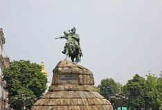 Monumento a Bohdan Khmelnytsky em Kiev ucrânia Fotos de Stock Royalty Free