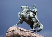 Monumento bronzeo a Bogdan Khmelnitsky Fotografia Stock