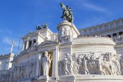 Monumento bronzeo a Victor Emanuel II Immagine Stock Libera da Diritti