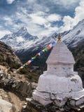 Monumento budista en el Himalaya Foto de archivo