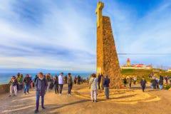 Monumento a Cabo Da Roca, Portogallo Immagini Stock Libere da Diritti