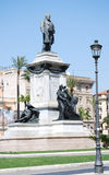Monumento a Camillo Benso di Cavour in piazza Cavour, Roma, Italia Fotografie Stock