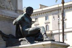 Monumento a Camillo Benso di Cavour in piazza Cavour, Roma, Italia Fotografie Stock Libere da Diritti