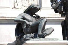 Monumento a Camillo Benso di Cavour in piazza Cavour, Roma, Italia Fotografia Stock Libera da Diritti