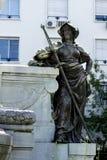 Monumento a Carlos Pellegrini en Buenos Aires foto de archivo