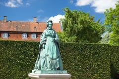 Monumento a Caroline Amalie, regina della Danimarca, Copenhaghen fotografie stock