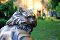 Monumento a Cat Panteleimon, Kiev Foto de Stock