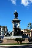 Monumento a Cavour sul quadrato del suo nome a Roma, Italia Fotografie Stock