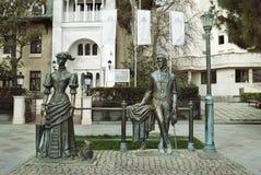 Monumento a Cechov sull'argine di Jalta Immagini Stock Libere da Diritti