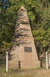 Monumento centenario di Voortrekker in Trompsburg Immagini Stock