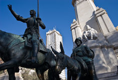 Monumento Cervantes Photos stock