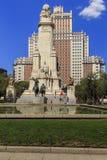 Monumento a Cervantes, Madrid Fotografie Stock Libere da Diritti