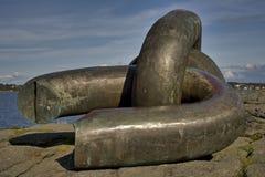 Monumento chain rotto immagine stock