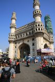 Monumento Charminar, en Hyderabad, la India Fotos de archivo