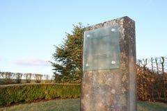 Monumento che commemora l'arresto di Luxair LG9642 di 2002 fotografia stock libera da diritti