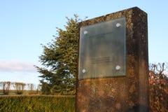 Monumento che commemora l'arresto di Luxair LG9642 di 2002 fotografie stock