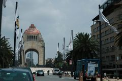 Monumento Ciudad de México de la revolución foto de archivo libre de regalías