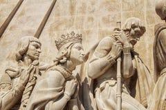 Monumento colossal da descoberta em Lisboa foto de stock royalty free