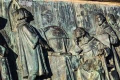 Monumento a Columbo em Barcelona na Espanha Fotos de Stock Royalty Free