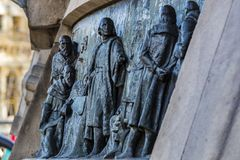 Monumento a Columbo em Barcelona na Espanha Fotografia de Stock