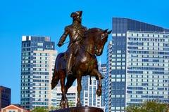 Monumento común de Boston George Washington Fotografía de archivo libre de regalías
