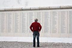 Monumento Combatentes Ultramar纪念品,里斯本 图库摄影