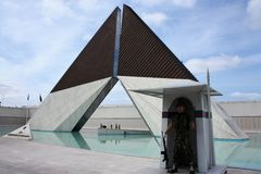 Monumento Combatentes Ultramar纪念品,里斯本 库存照片