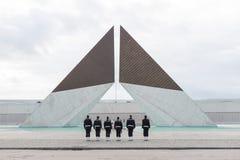 Monumento Combatentes Ultramar, Lissabon Stockfotos