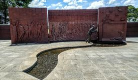 Monumento commemorativo Andersonville Georgia del museo nazionale del prigioniero di guerra Fotografia Stock Libera da Diritti