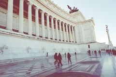 Monumento commemorativo il Vittoriano o l'altare della patria, dentro Immagini Stock