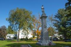 Monumento commemorativo in Merrimack New Hampshire, U.S.A. immagine stock
