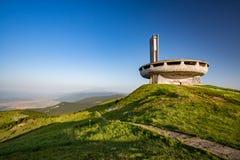 Monumento comunista abandonado, Buzludzha, Bulgária fotos de stock royalty free