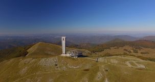 Monumento comunista en Buzludja almacen de video