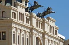 Monumento con i cavalli ed il guerriero Immagine Stock Libera da Diritti