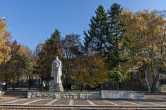 Monumento con la lista de la sepulcral-casa y de muerte de héroe búlgaro Fotografía de archivo libre de regalías