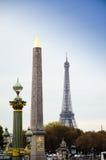 Monumento Concorde Eiffel Tower de París Fotos de archivo