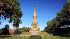 Monumento confederado no parque de Forsyth no savana, Geórgia imagens de stock