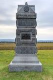 Monumento conmemorativo, Gettysburg, PA Imagen de archivo