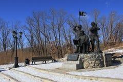Monumento cosaco del panorama Fotos de archivo