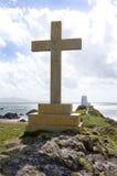 Monumento cruzado cristiano fotografía de archivo libre de regalías