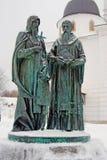 Monumento a Cyril y a Methody imagenes de archivo