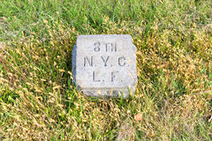 Monumento da cavalaria de New York, Gettysburg, PA Fotografia de Stock Royalty Free