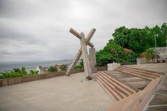 Monumento da Cruz Caida in Bahia, Salvador - Brasile immagini stock libere da diritti