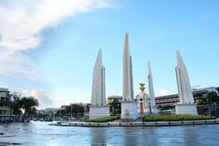 Monumento da democracia após a chuva Fotografia de Stock