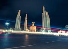 Monumento da democracia em Banguecoque, Tailândia Fotos de Stock Royalty Free