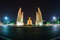 Monumento da democracia na noite Fotografia de Stock