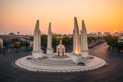 Monumento da democracia no crepúsculo Foto de Stock Royalty Free