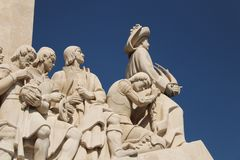 Monumento da descoberta em Lisboa fotos de stock
